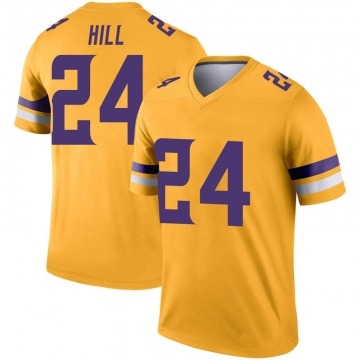 Men's Holton Hill Minnesota Vikings Legend Gold Inverted Jersey