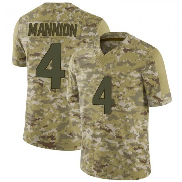 Men's Sean Mannion Minnesota Vikings Limited Camo 2018 Salute to Service Jersey