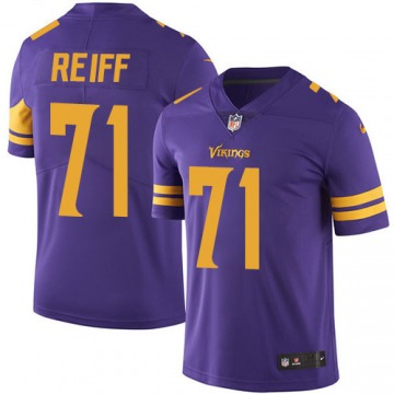 Youth Riley Reiff Minnesota Vikings Limited Purple Color Rush Jersey