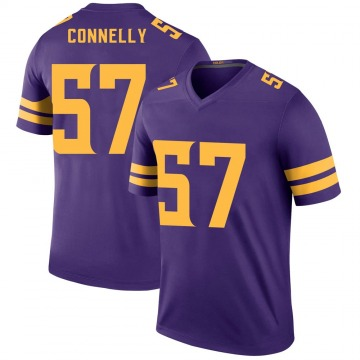 Youth Ryan Connelly Minnesota Vikings Legend Purple Color Rush Jersey
