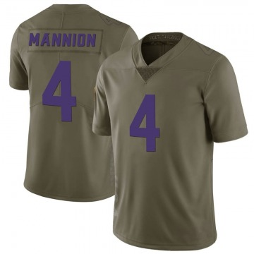 Youth Sean Mannion Minnesota Vikings Limited Green 2017 Salute to Service Jersey